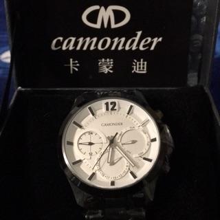 卡蒙迪 Camonder 三眼鋼帶錶