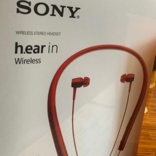 Sony mdr ex 750bt 藍牙 耳機 全新未拆 紅