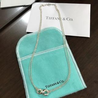 (保證正品)Tiffany & Co. Infinity 愛無限雙鍊 純銀項鍊