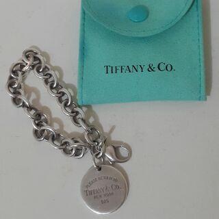 Tiffany&Co. 圓牌 Return to Tiffany純銀經典款手鍊