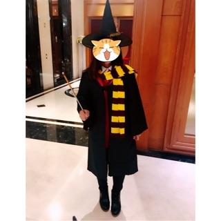 哈利波特 服裝4件套組- 魔法袍、圍巾、領帶、眼鏡