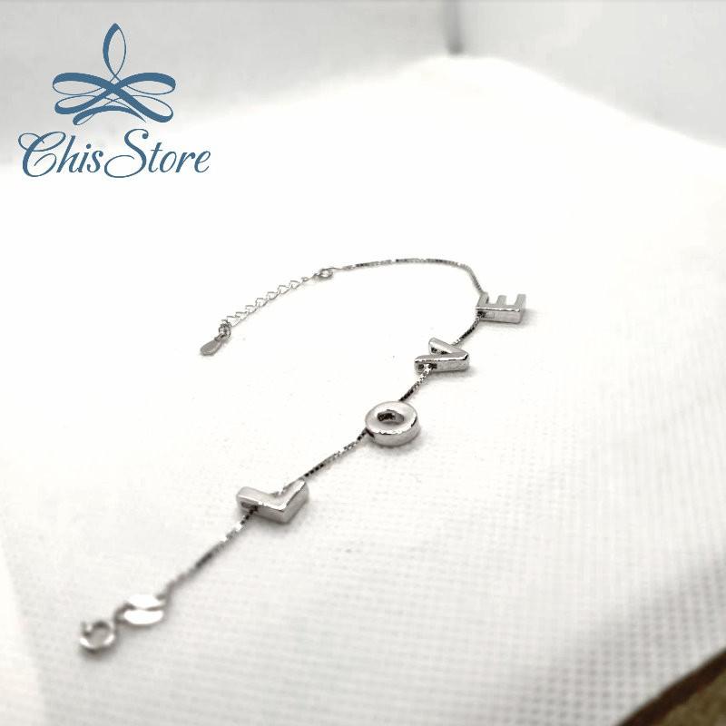 【英文字母客製化手鍊】925純銀手鏈 Chis Store 情侶 閨密 紀念 對鏈 對鍊 專屬 手環 手鐲 手繩 手飾