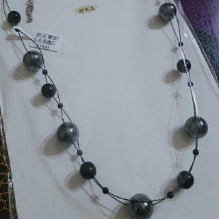 黑膽石 項鍊 珍珠項鍊