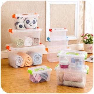 ▶▶量身定做▶▶透明塑料收納箱有蓋手提收納盒 衣物玩具零食整理箱儲物箱