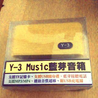 Y-3 music 藍芽音箱