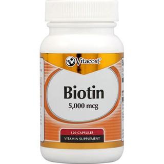Vitacost生物素 Biotin 5000mcg 120顆