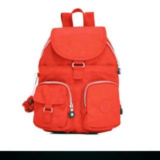 Kipling紅色小型後背包
