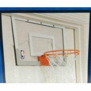 SPALDING 斯伯丁 NBA室內籃球框組 小籃框 透明籃框+彈簧鋼框+小籃球新款彈簧 小朋友籃球送禮 進步獎