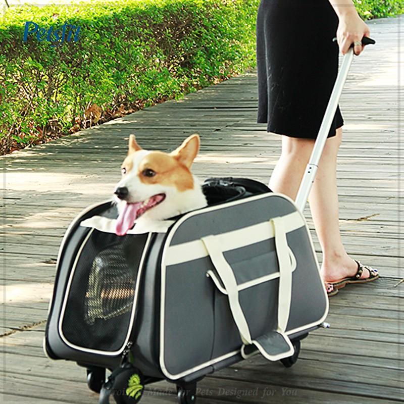 宅配免運 Petsfit 寵物拉桿包  多功能寵物外出提攜包拉桿包 寵物提袋 寵物運輸籠 寵物航空箱