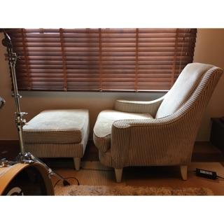 單人沙發+腳凳