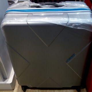 全新現貨 HIDEO WAKAMATSU 27吋 行李箱 拉鏈箱 銀色delsey 新秀麗喜歡24/28/29吋可參考