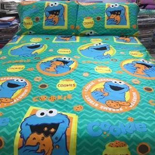 愛吃的藍色餅乾怪獸純棉床包組