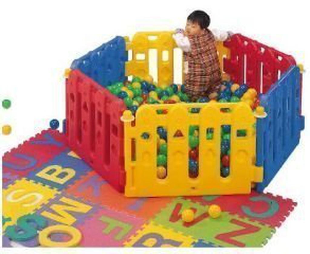 【MR W】PY-01圍欄 球池 遊戲池 安全圍欄 幼兒圍欄 遊戲圍欄 寶寶護欄 護欄 台灣製造 ST安全玩具