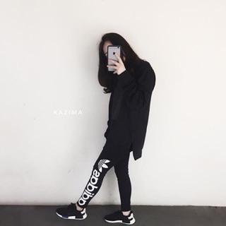 Adidas Originals Legging 三條線內搭褲瑜珈褲SuperStar 正