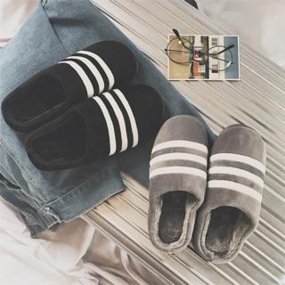 室內拖 條紋拖 保暖室內拖 情侶拖鞋