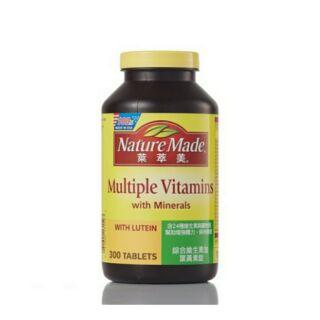 Nature Made 萊萃美綜合維生素 + 葉黃素錠 300錠  [Costco代購/含運] 196588
