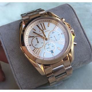 經典 Michael Kors MK5503 玫瑰金 羅馬 三眼計時 手錶 時尚錶 MK錶 MK