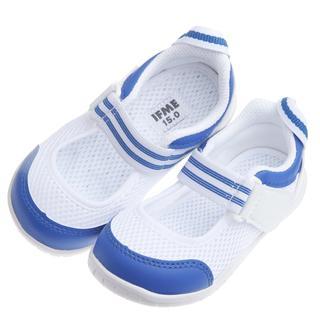 童鞋*日本IFME夏日藍白透氣網布機能室內鞋(15~21公分)PBS396B