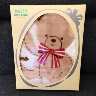 日本 大津元氣 小熊毛毯