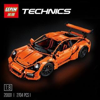 ☆ 恩祐小舖- 樂拼 20001 保時捷 911超跑 橘色超級跑車 GT3 RS / 樂高相容 【Lego系列】