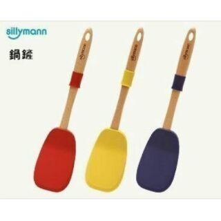 【yoyo home】現貨韓國 Sillymann 矽膠無毒耐熱 玫瑰鍋木柄鍋鏟 木柄大煎匙
