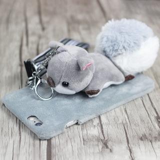 小松鼠手機殼OPPO vivo華為蘋果立體毛絨公仔保護套 硬殼防摔殼