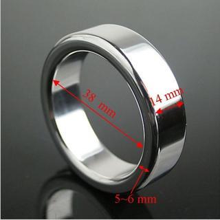 【Question mark M】編號901.【38mm】猛男 金屬 屌環 粗款 不鏽鋼 負重環