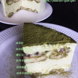 抹茶紅豆提拉米蘇冰淇淋蛋糕