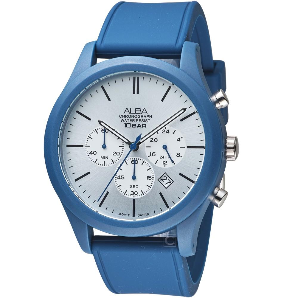 ALBA 雅柏街頭運動時尚手錶 VD53-X347B AT3G29X1 藍