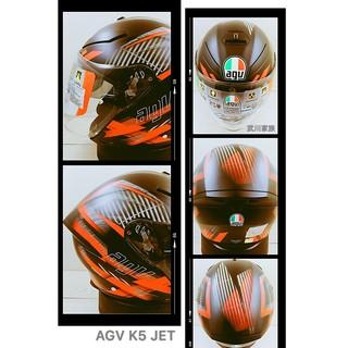 武川家族 義大利進口安全帽AGV K5-JET 半罩(3/4)安全帽 內墨片