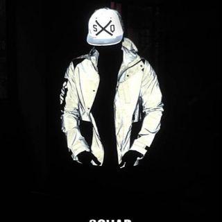 SQUAD 反光風衣外套 XL號