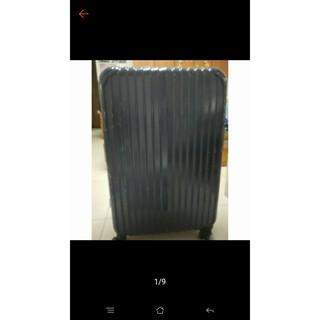 Rowana 金燦炫光PC鏡面鋁框行李箱 29吋(藍)