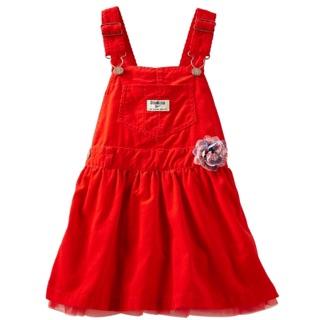 美國 Oshkosh osh 吊帶裙 絕版 紅紗 玫瑰