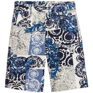 Young Versace 男孩款 滿版花卉 Logo 短褲
