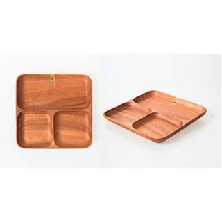 UdiLife品木屋方型餐盤-三格