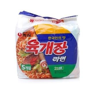 韓國農心辣牛肉湯麵5入/袋~繼承者們 金宇彬崔英道大愛推薦款泡麵