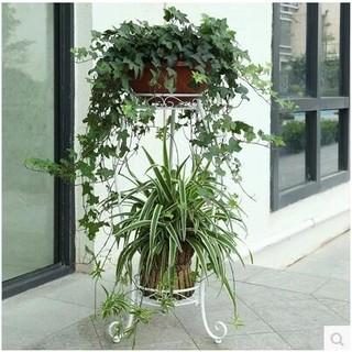 歐式田園鐵藝多層花架室內客廳落地式花盆架綠蘿吊蘭花架