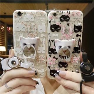 蕾絲貓咪 面具  手機殼 iPhone