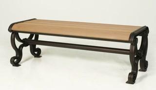 [ 晴品戶外休閒傢俱館]塑木公園椅雙人座長板凳 塑木長板凳雙人座 公園椅凳