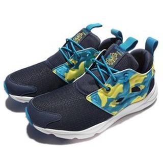7/21 5折特價區 REEBOK FURYLITE POP CQ 女生 深藍 迷彩 慢跑鞋 AR2057