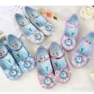 冰雪奇緣平地兒童公主鞋 亮粉鞋淑女鞋