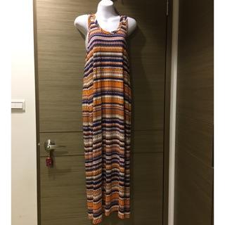 波西米雅風背心長版休閒洋裝