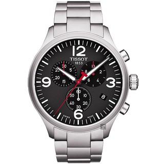 TISSOT 天梭 韻馳系列 Chrono XL計時手錶-黑/45mm/T1166171105700