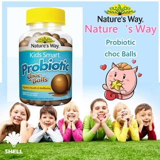 小貝殼澳洲代購-Nature's Way Kids Smart 兒童益生菌 巧克力/優格口味 50顆裝