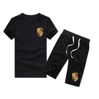 【原單】【好望角精品】法拉利套裝Porsche 標誌保時捷 法拉利 蘭博基尼 賓利 短袖T恤 男士韓版時尚