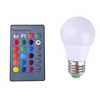 RGB可調光LED燈泡燈3W 85-265V E27燈頭