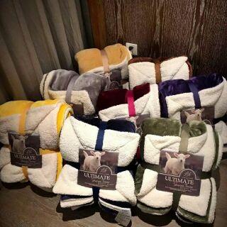 素色法蘭絨羊羔絨毯150*200cm