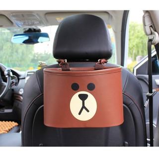 LINE Friend汽車椅背收納袋熊大布朗熊懸掛式車載多功能垃圾桶