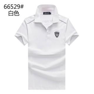 Armani EA7夏季男生Polo短袖衣服 簡約素色翻領商務男士純色素T2018夏天修身舒適透氣男生T恤上衣