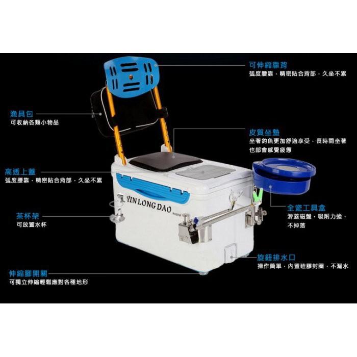 多功能釣魚冰箱保冷箱冰桶釣魚座椅釣竿支架